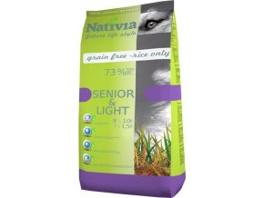 Nativia Dog Senior&Light Chicken & Rice 15 kg