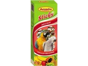 AVICENTRA tyčinky pro velké papoušky ovoce+med 2ks DOPRODEJ
