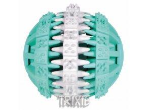 TRIXIE DENTAfun míč s mátou zeleno/bílý 7cm