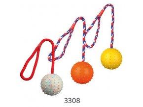 TRIXIE Vrhací míč hrbolatý na šňůře 6cm/30cm