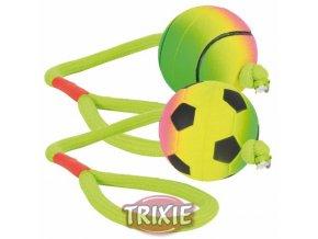 TRIXIE Neonový míč na šňůře, mechová guma, 6cm/30cm