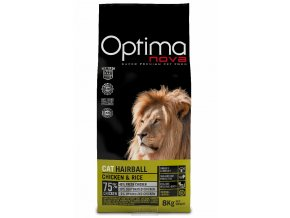 Visan OPTIMA nova CAT ADULT HAIRBALL 8kg