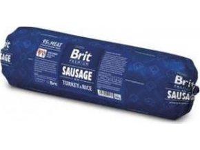 Brit salám Sausage -Turkey & Rice 800 g