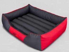 Pelíšek pro psa Comfort - červený s šedou XL 85 x 65 cm