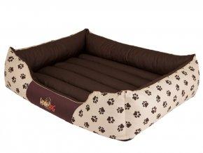 Pelíšek pro psa Prestige - béžový, packy L 65 x 50 cm