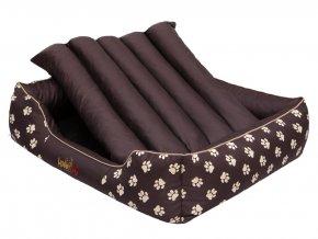 Pelíšek pro psa Prestige - hnědý, packy XL 85 x 65 cm