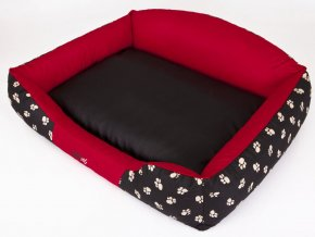 Pelíšek pro psa Royal - červená koruna XL 84 x 65 cm
