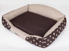 Pelíšek pro psa Royal - béžová koruna XXL 110 x 85 cm