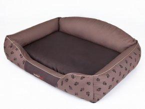 Pelíšek pro psa Royal - hnědá koruna XL 84 x 65 cm