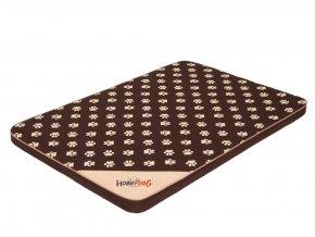 Matrace pro psa Light - tmavě hnědá a packy  M 80 x 54 x 3,5 cm