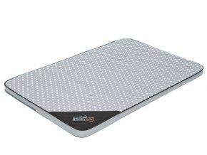 Matrace pro psa Light - šedá puntík  M 80 x 54 x 3,5 cm