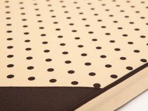 Matrace pro psa Light - béžová puntík XL 120 x 80 x 4 cm