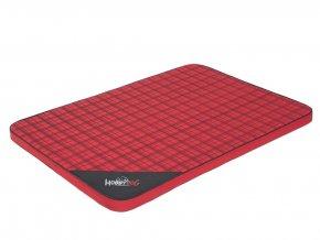 Matrace pro psa Light - červená kostka L 10 x 67 x 3,5 cm