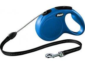 Flexi New Classic M šňůra 5 m, max. 20kg - modrá