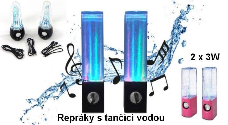 Repráky s tančící vodou