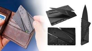 Skládací nůž v peněžence