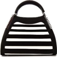 Luxusní kabelka GESSACI bílo černá