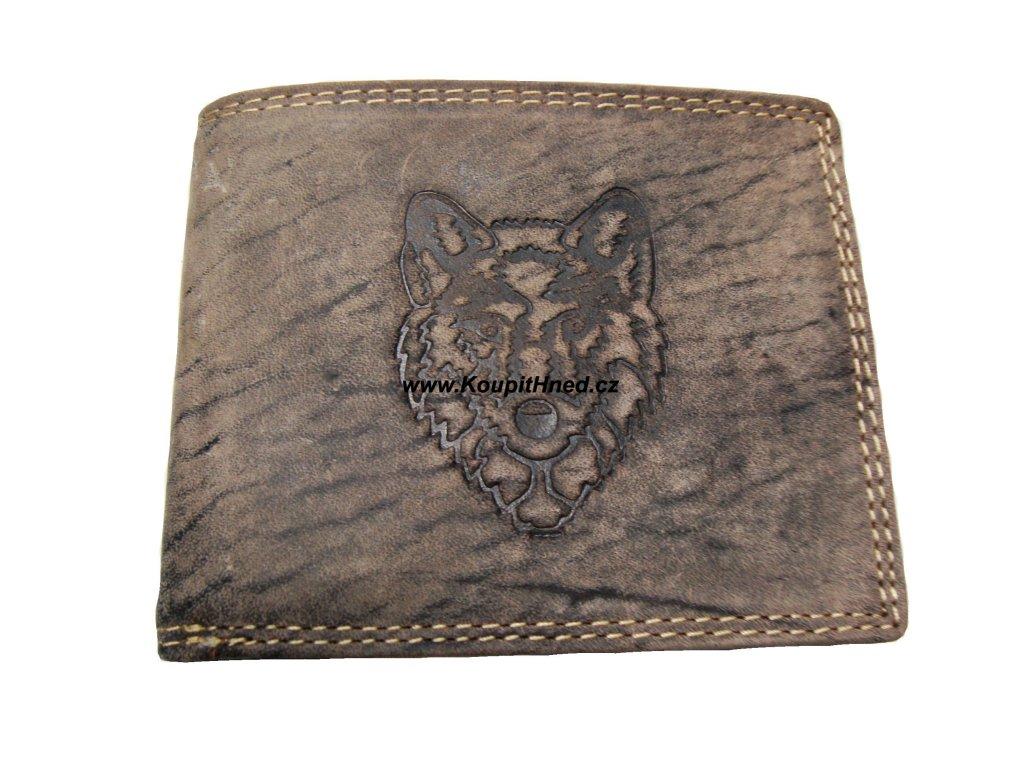 Kožená peněženka Vlk