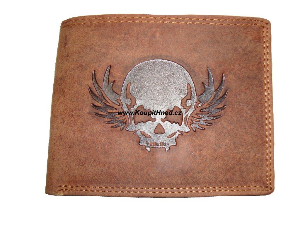 Kožená peněženka Lebka