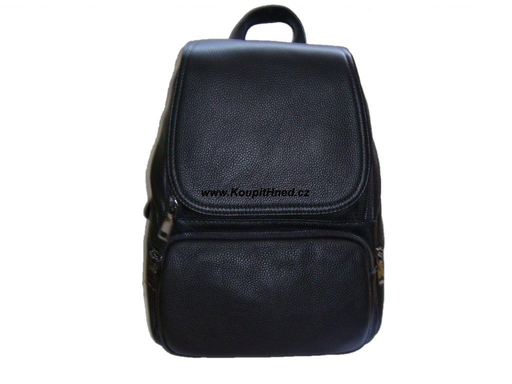 Kožený batoh s překlopem