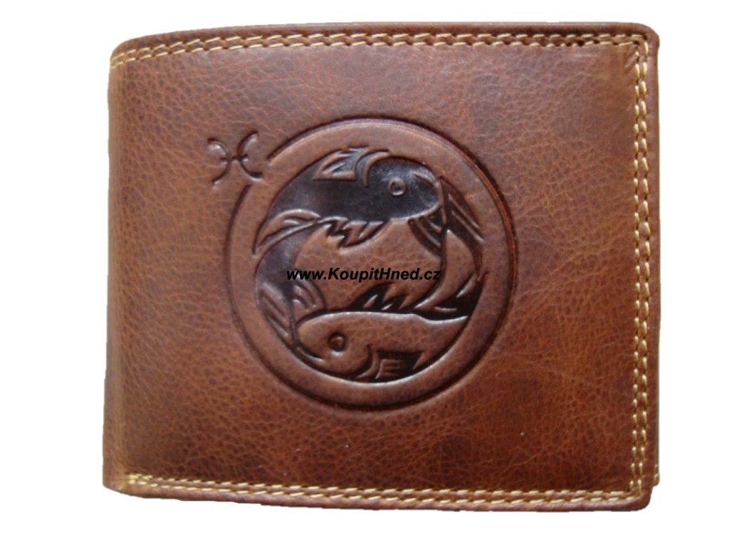 Kožená peněženka znamení ryby