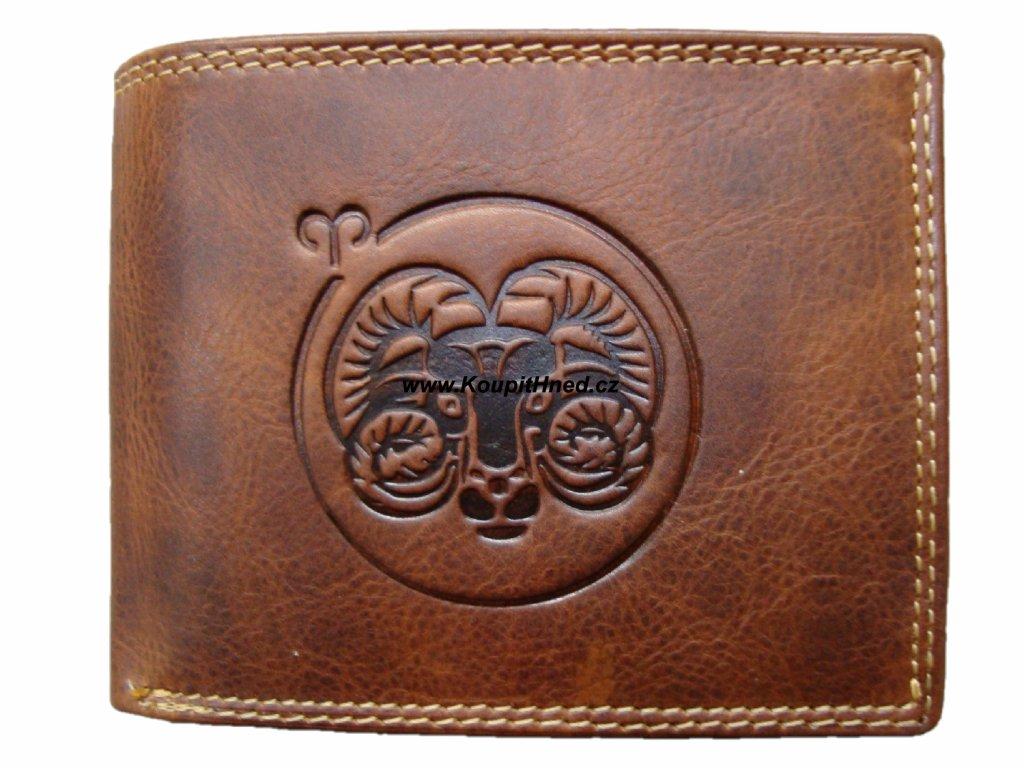 Kožená peněženka znamení beran