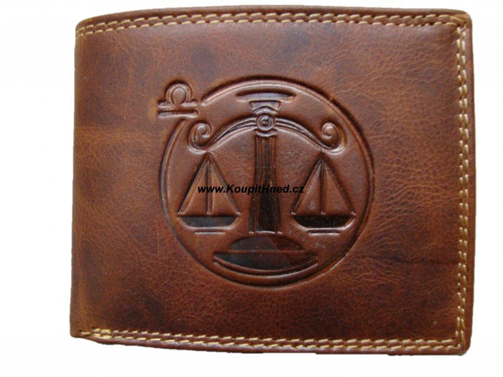 Kožená peněženka znamení váhy