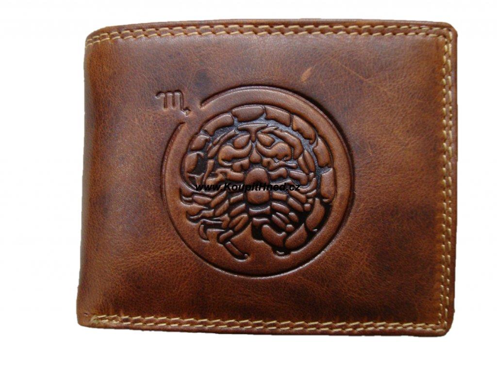 Kožená peněženka znamení štír