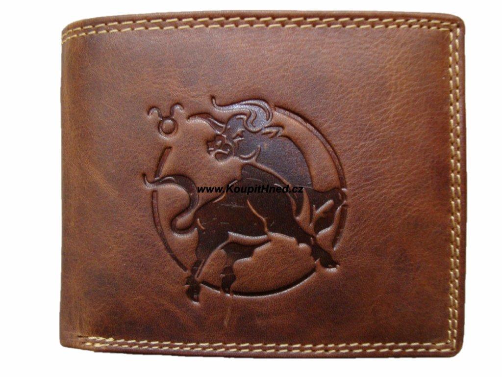 Kožená peněženka znamení býk