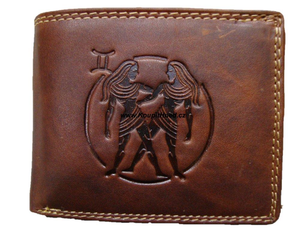 Kožená peněženka znamení blíženci