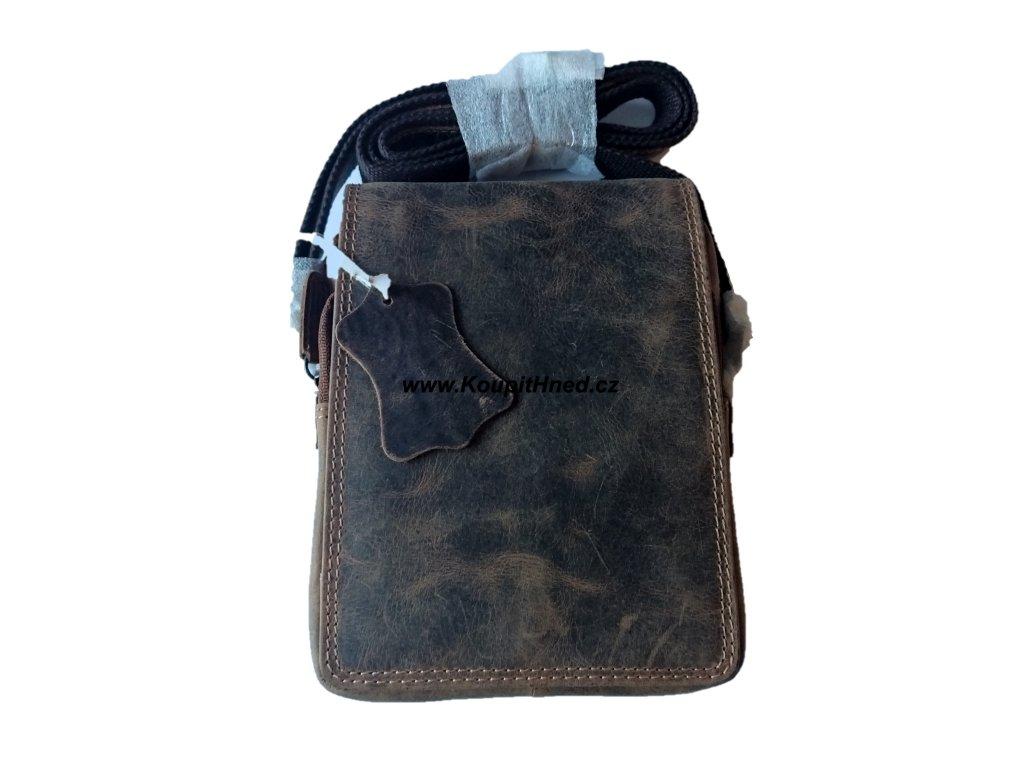 Kožená taška střední