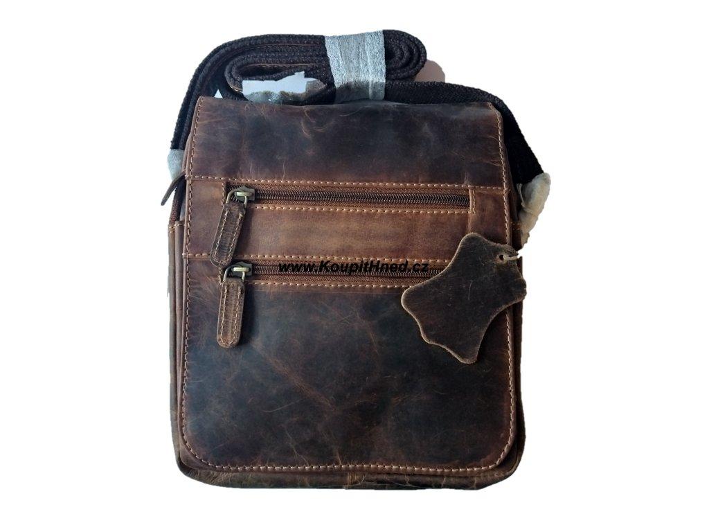 Kožená taška překlop