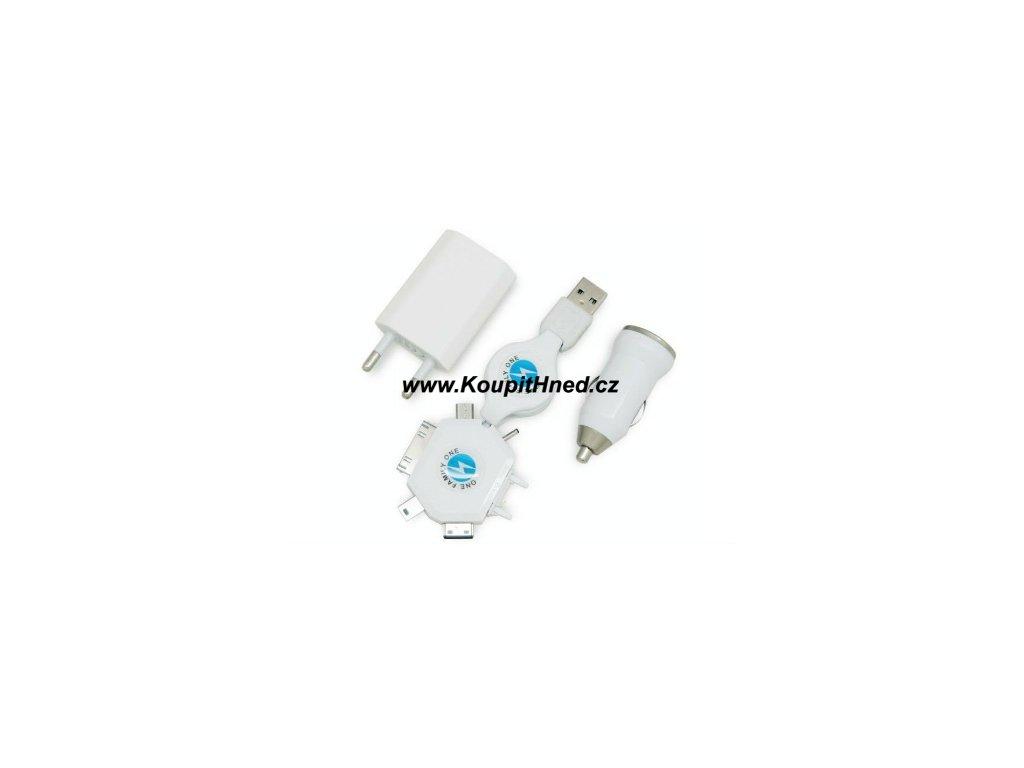 USB nabíječka do auta 3v1