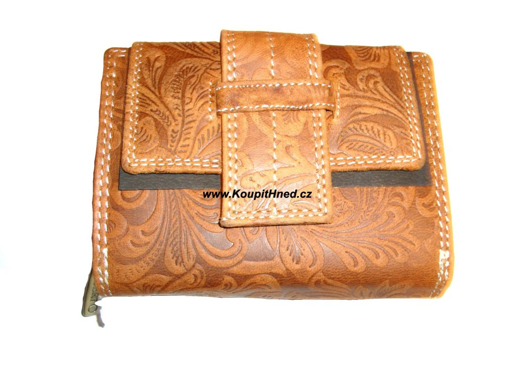 Kožená dámská peněženka puk