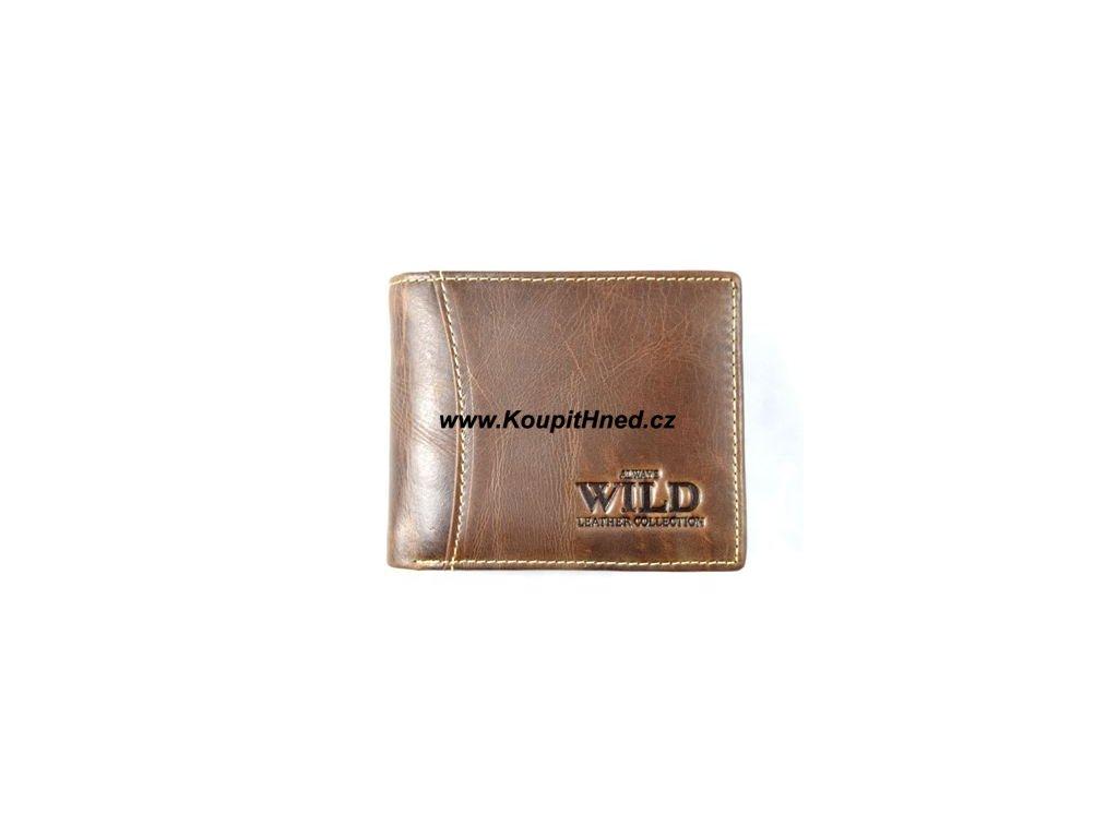 Kožená peněženka WILD hnědá