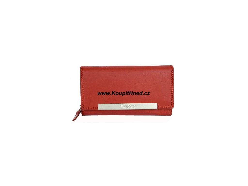 Kožená dámská peněženka ROBERTO červená