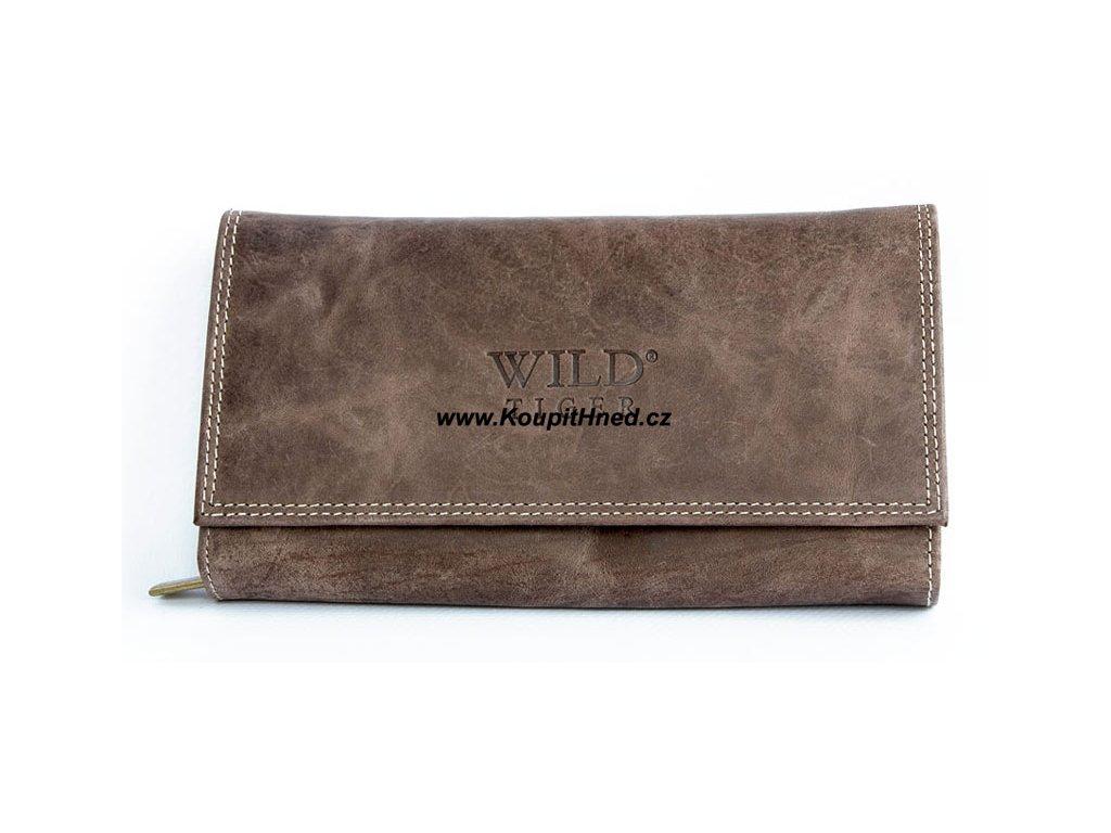 Kožená peněženka dlouhá WILD TIGER