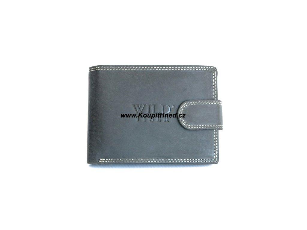 Kožená peněženka WILD TIGER se zapínáním