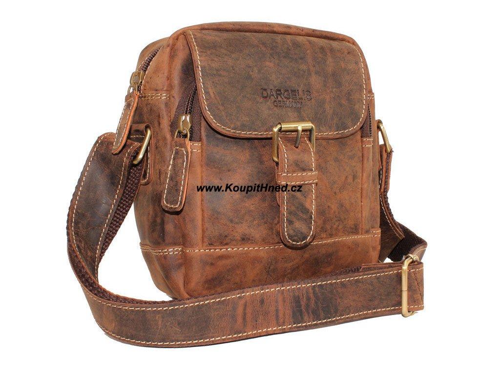 Kožená taška přes rameno hnědá