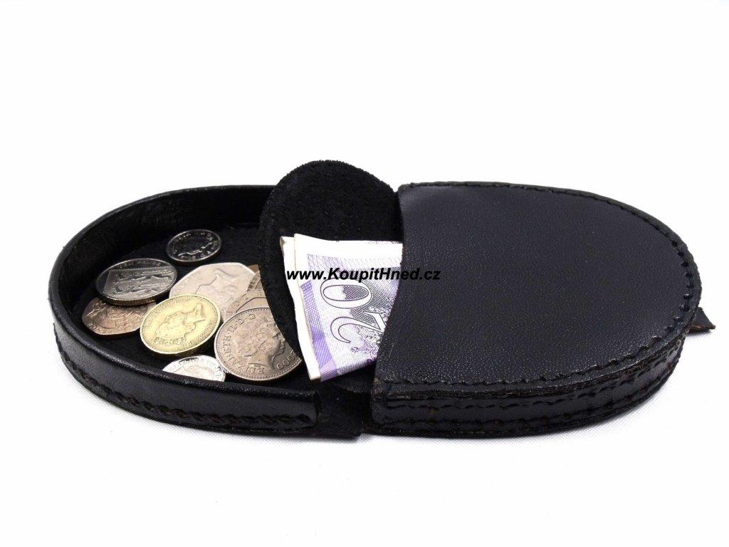 Kožená potkova na mince a bankovky větší