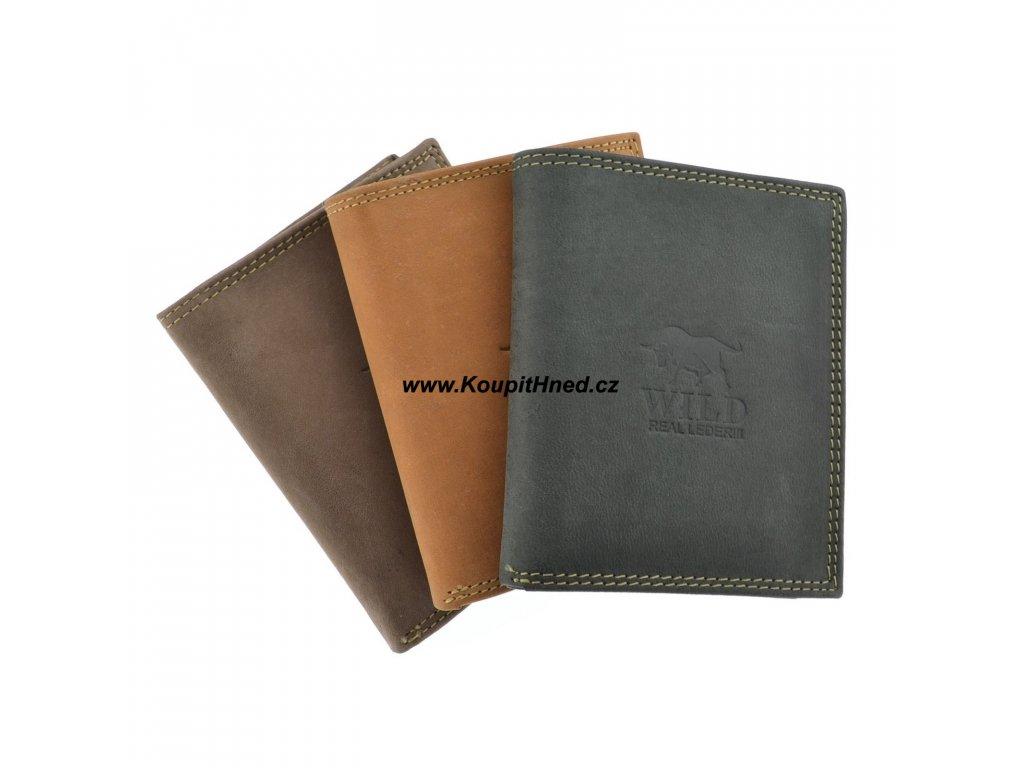 Kožená peněženka rozkládačka