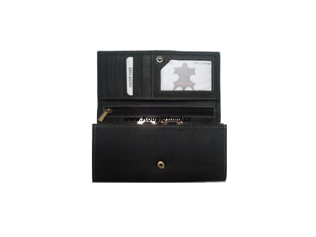 Kožená dámská peněženka cvakačka