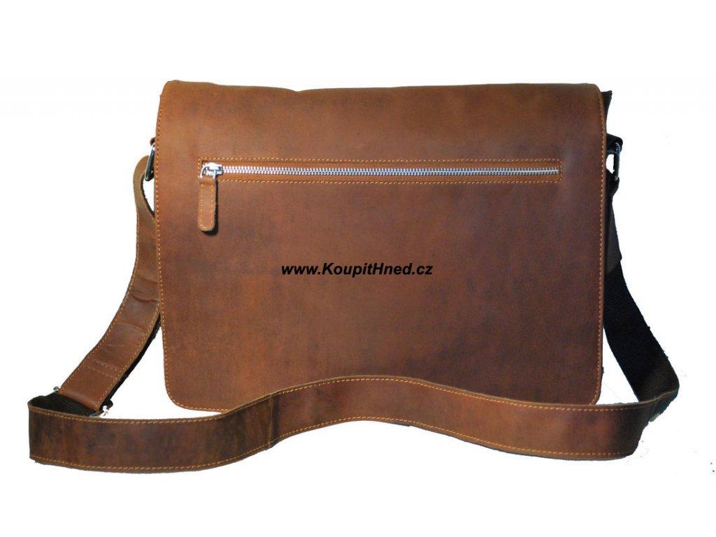 Pánská kožená taška s překlopem velká
