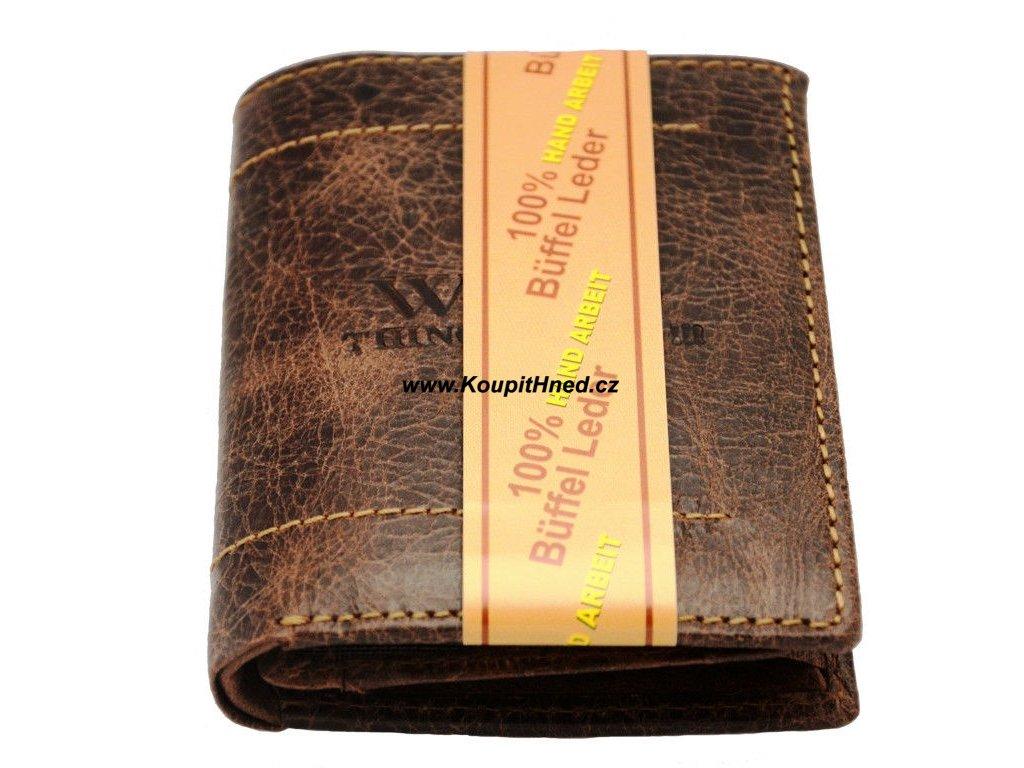 Kožená peněženka na výšku