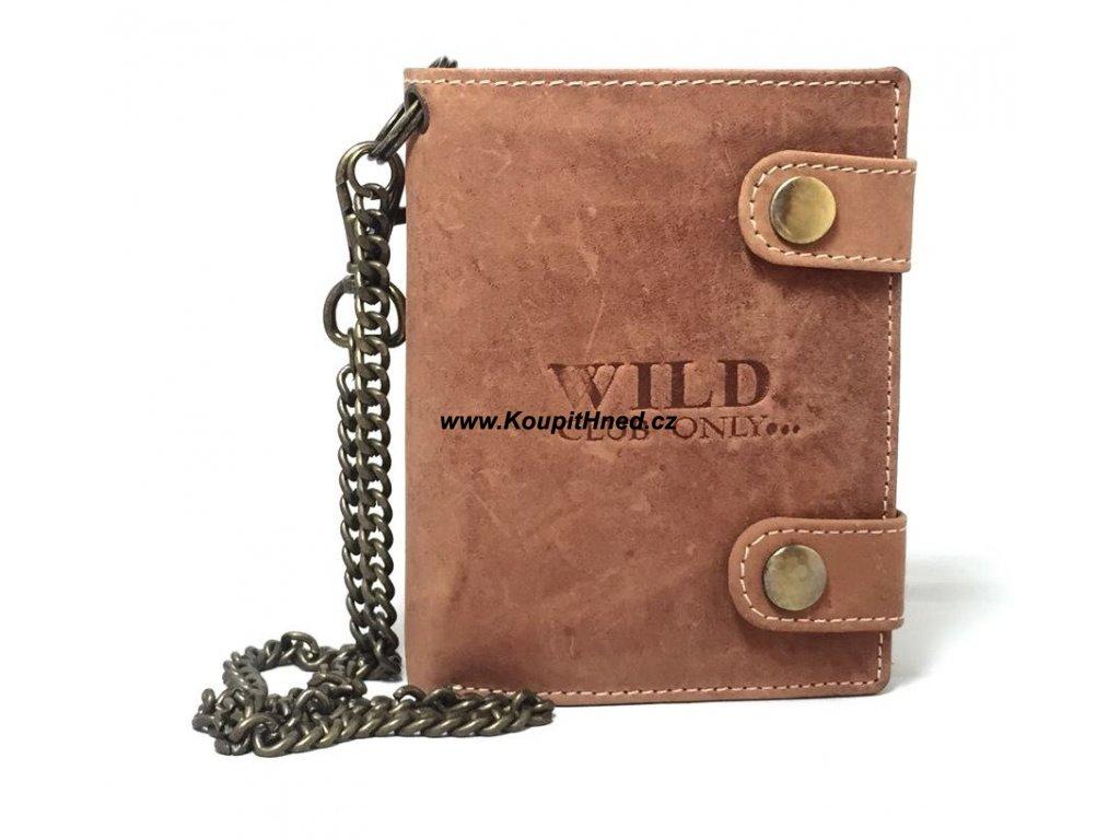 Kožená peněženka na výšku dva klopy