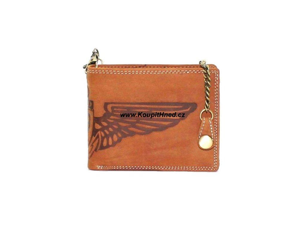 Kožená peněženka Křídla