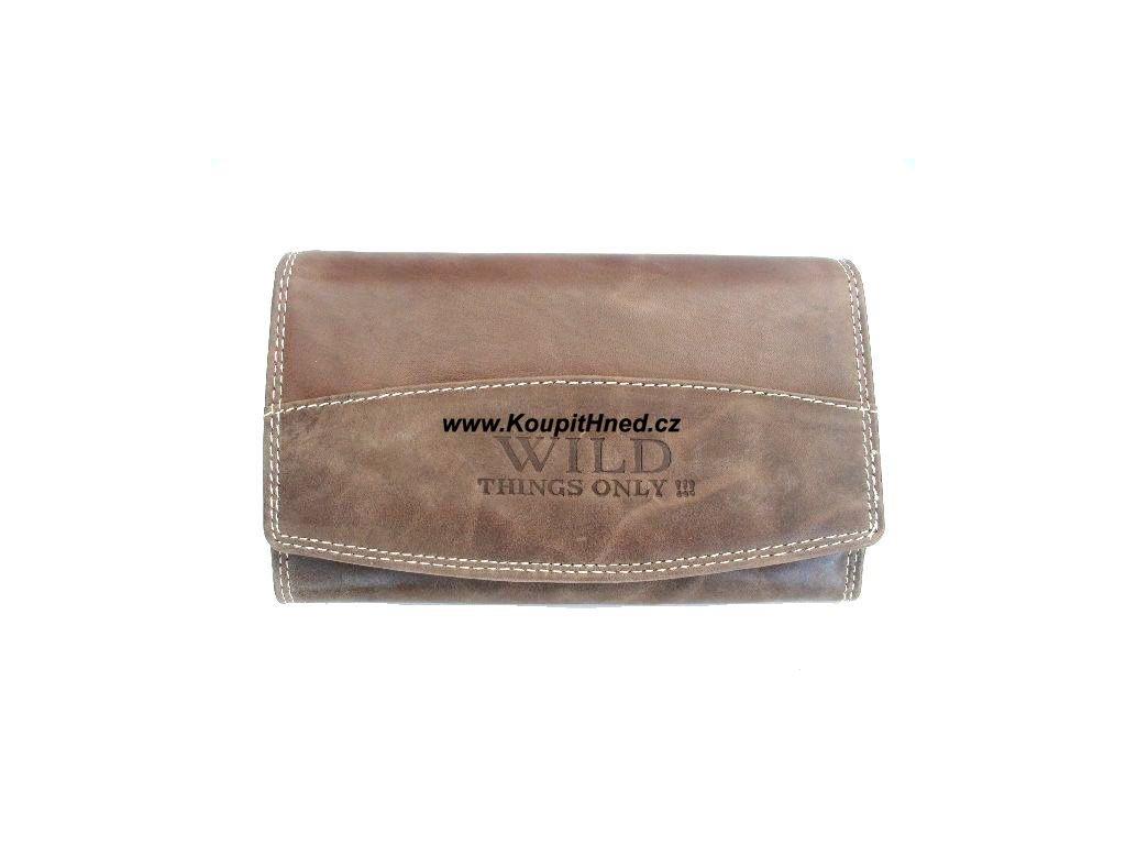 Kožená peněženka tříčtrvrťák