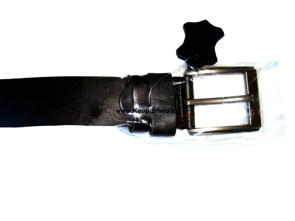 Kožený opasek černý hladký