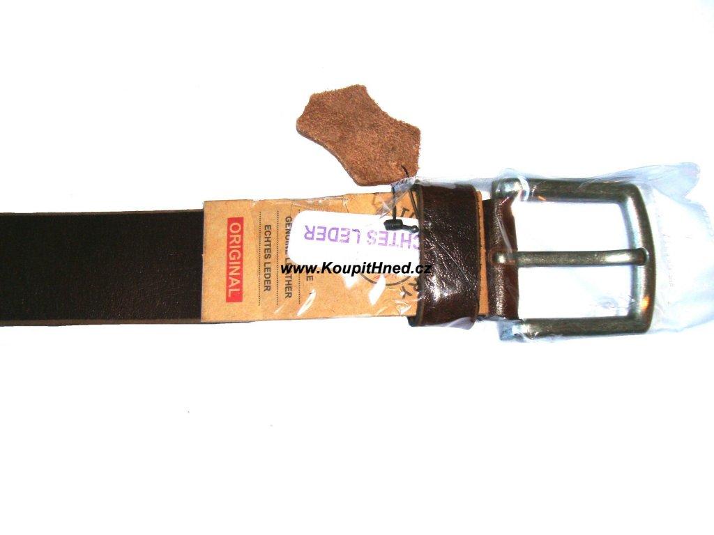 Kožený opasek hnědý hladký