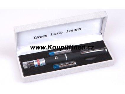 Výkonné laserové ukazovátko zelené barvy